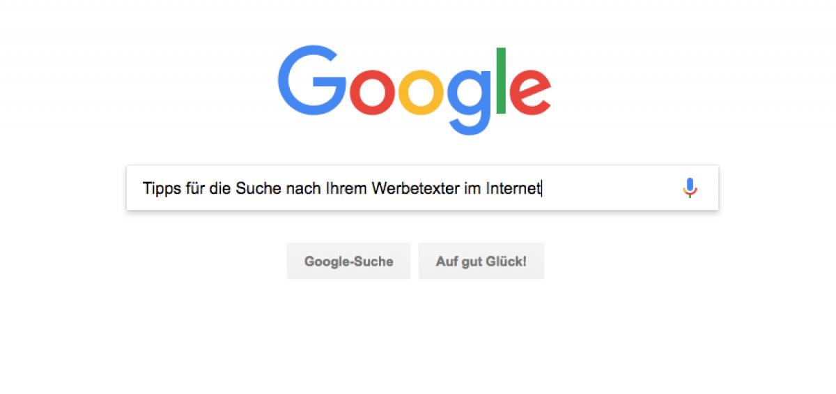 Google Suchseite