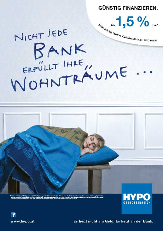 Kreativkonzeption und Text für eine Kampagne der Hypo Oberösterreich